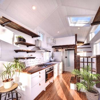 26' Custom Napa Edition by Mint Tiny Homes - Tiny Living -  The kitchen features a stunning wood co
