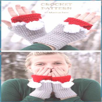 6 Christmas Fingerless Mittens Free Crochet Patterns & Paid – DIY Magazine