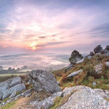 Autumn Mists over Cornwall by flotsom. Autumn mists as the sun rises over the Cornish countryside,