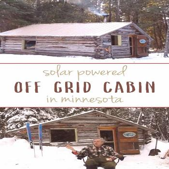 Awesome solar powered off grid cabin in Minnesota#awesome