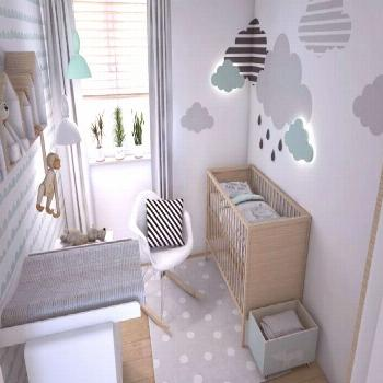 Baby room in mint and gray - 40 ideas for little girls and boys#baby