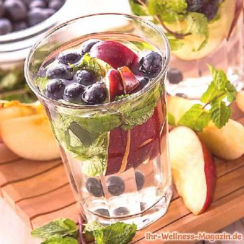 Blueberry Apple Mint Water - Recipe for Infused Water - Detox Water -  Blueberry Apple Mint Water