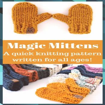 Click for the pattern and video tutorial! Magic Mittens combines a classic… - sewing pattern and