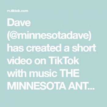 Dave (@minnesotadave) has created a short video on TikTok with music THE MINNESOTA ANTHEM by bri fl