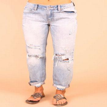 Edgy Light Wash Distressed Boyfriend Jeans - Casual Jeans              –     The Mint Julep Bouti