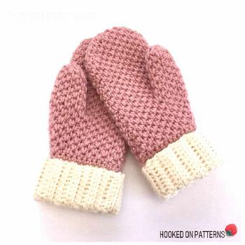 Free Cute & Cosy Mittens Crochet Pattern by Hooked On Patterns. A free crochet mittens pattern for