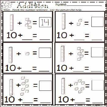 Free spring math worksheet. Add the base ten blocks and write the missing numbers. More spring work
