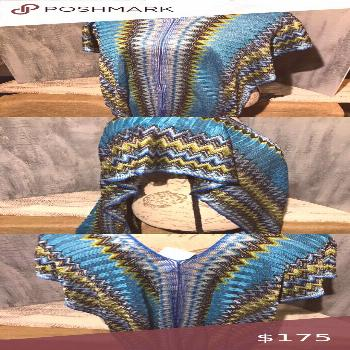 I just added this listing on Poshmark: Rare MISSONI Zig-Zag Caftan Poncho Scarf NWT.