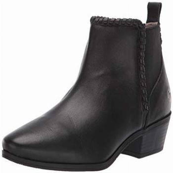 Jack Rogers Women's Tori Ankle Bootie Boot, black leather,