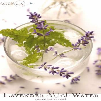Lavender Mint Water is a Summer, spa water recipe that you can make passively by cold brewing in t