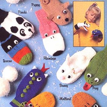 Learn How to Knit Mittens and Gloves with this New Online Class!  Puppet Mittens Knit ePattern grea