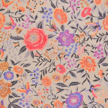 Missoni Home Oriental Garden Wallpaper - Warmes Grau / Orchidee / Koralle in Pink#garden