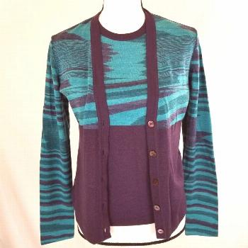Missoni Womens Twinset Cardigan Sweater Size 40 Medium Made in Italy Lightweight