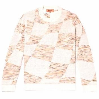 MISSONI-knitwear-SLIM-FIT SPACE-DYED DOUBLE-FACED INTARSIA-KNIT SWEATER - OFF-WHITE.