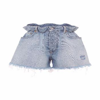 MIU MIU - shorts - Frayed Denim Shorts