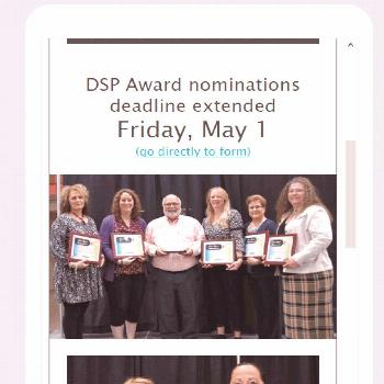 MOHR has extended its deadline for Direct Support Professional Award submissions to May 1.   Please