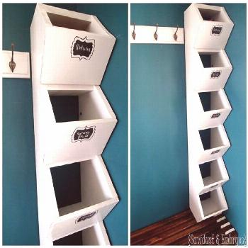 Mudroom Cubbies: Storage for Hats & Mittens | Reality Daydream#cubbies