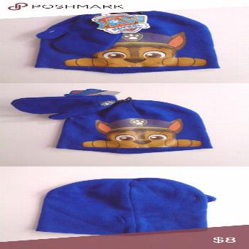 PAW PATROL Kids Blue Cap Mittens OS Boys New with tags boys PAW PATROL royal blu... ,  PAW PATROL K