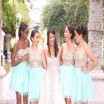Quince Pictures, Sweet 15 pictures, Quince Dress, Mint Quinceanera Court dress, Quinceanera - Quinc