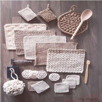 The Zero Waste Home Collection - crochet and knitting patterns, crochet