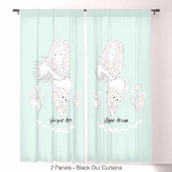 Unicorn Curtains, Girls Curtains, Unicorn Lover, Kids Curtains, Mint blue, mint ...#blue