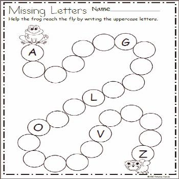 Write the Missing Letters and Help Frog