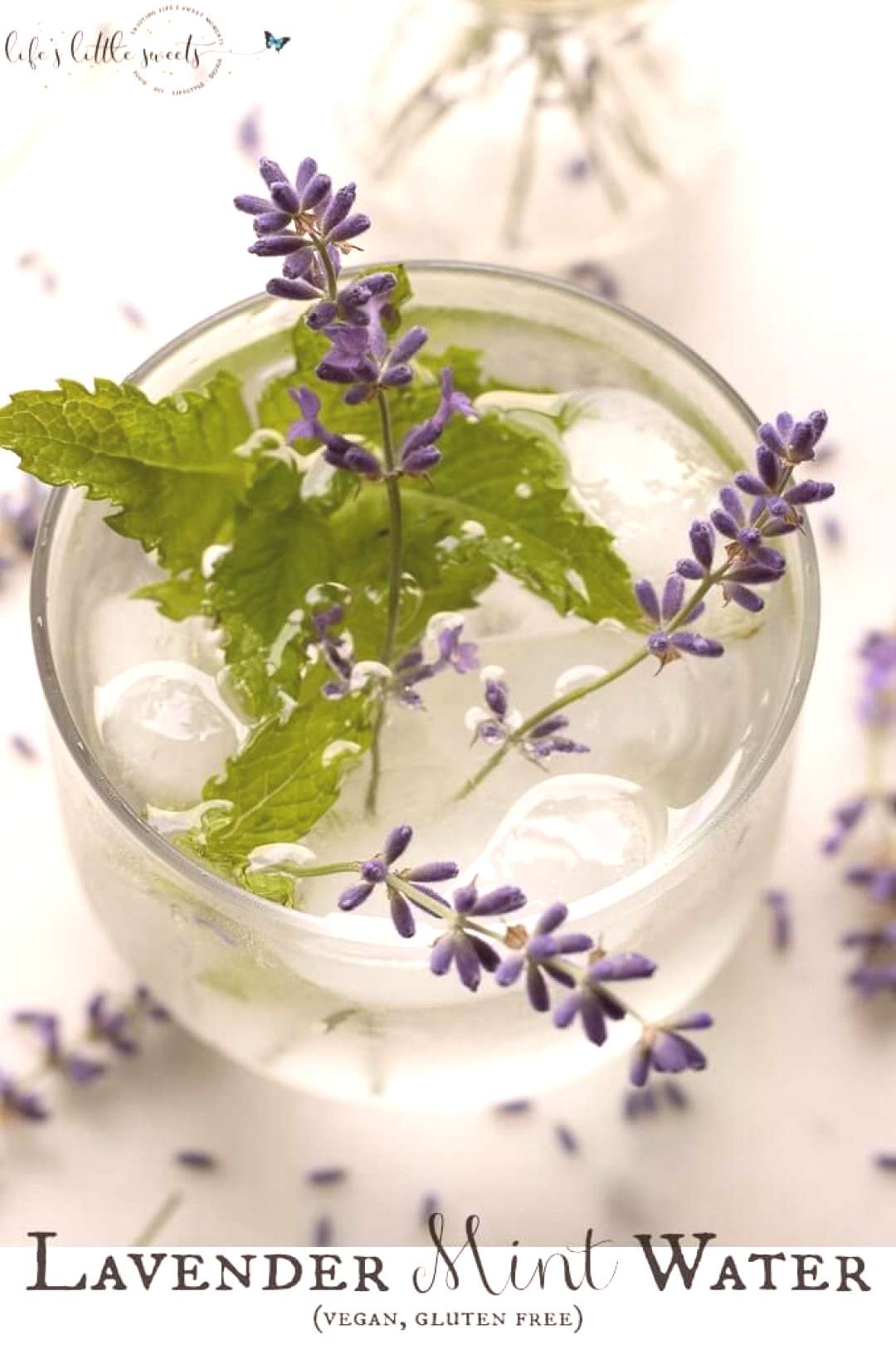 Lavender Mint Wateris a Summer, spa water recipe that you can make passively by cold brewing in t
