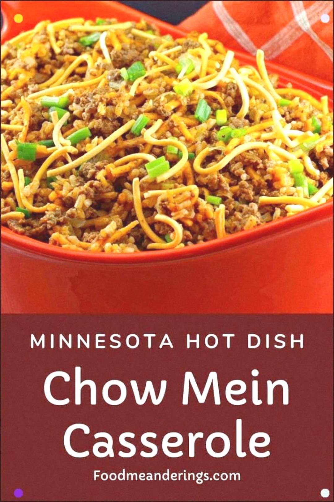 This Chow Mein Casserole Is Also Known By The Name Minnesota Hot Dish. It's A Mid-Western Classic C